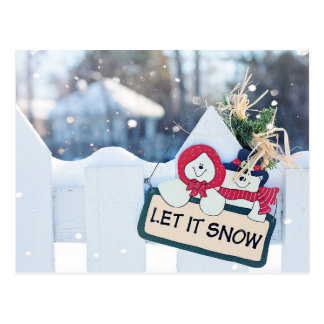 LET IT SNOW CHRISTMAS | HOLIDAY PHOTO POSTCARD