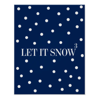 Let It Snow Christmas Holiday Poster Sign