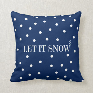 Let It Snow Christmas Holiday Throw Pillow