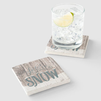 let it Snow Christmas Holiday winter Coaster