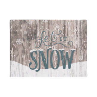let It Snow Christmas Holiday Winter Door mat