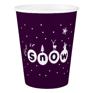 Let It snow Christmas Paper Cup