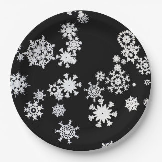 Let It Snow! Christmas Party Paper Plates 9 Inch Paper Plate
