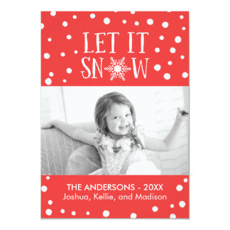 Let It Snow Christmas Photo Card
