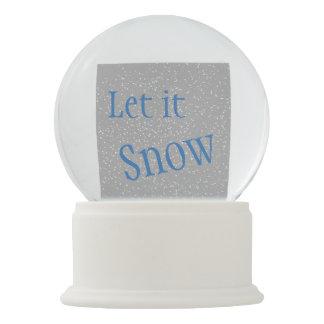 Let it Snow Christmas Snow Globe