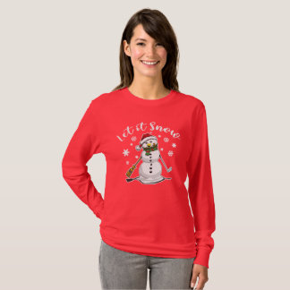 Let it Snow Christmas Snowman T-Shirt