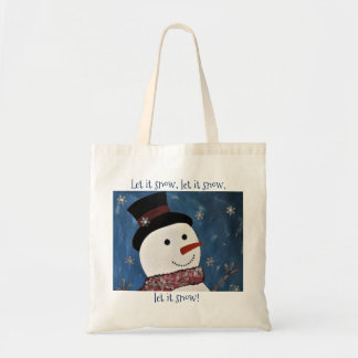 Let It Snow Christmas Tote