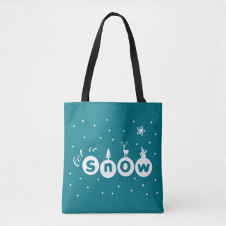 Let It snow Christmas Tote Bag