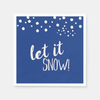 Let it Snow Cocktail Paper Napkins