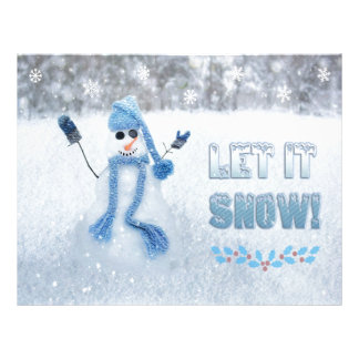 Let It Snow Custom Letterhead