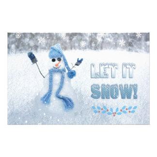 Let It Snow Custom Stationery