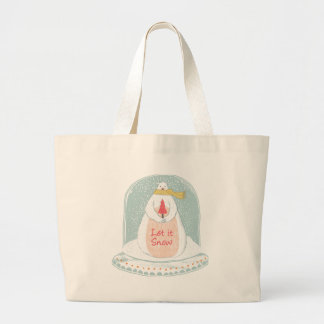 Let it snow cute Christmas Large Tote Bag