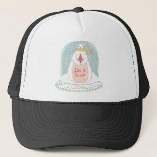 Let it snow cute Christmas Trucker Hat