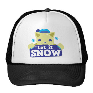 LET IT SNOW cute little kitty Trucker Hat