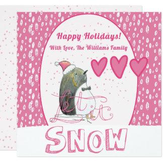 Let it snow | Cute Penguin Christmas Card