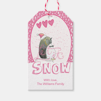 Let it snow | Cute Penguin Christmas Gift Tags