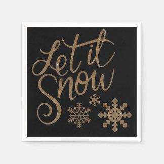 """""""Let It Snow"""" Disposable Napkin"""