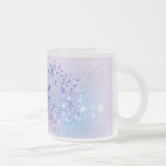 Let it Snow Frosted Glass Coffee Mug