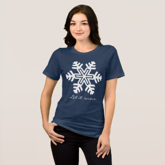 Let it snow funny customizable dark T-Shirt