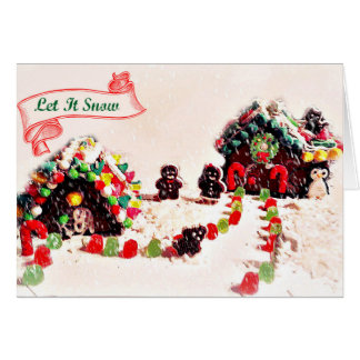 Let It Snow Gingerbread Holiday Cards