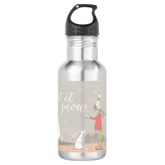 Let it Snow Girl and Bunny 532 Ml Water Bottle