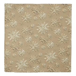 """Let It Snow"" Gold Effect Snowflake Pattern Duvet"