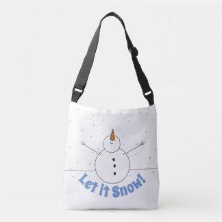 """Let It Snow"" Happy Snowman Crossbody Bag"