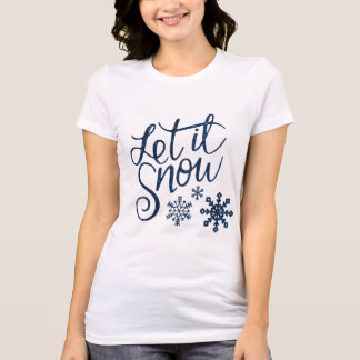 Let it Snow Ladies Long Sleeve Winter Shirt