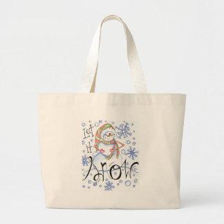let-it-snow large tote bag