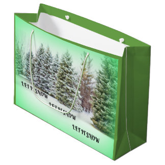 Let It Snow! Let It Snow! Let it Snow! Large Gift Bag