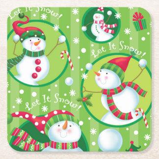 Let it Snow Man Coaster