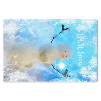 Let it Snow-man Tissue paper