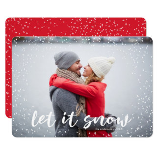 Let it Snow Modern Holiday Photo Card