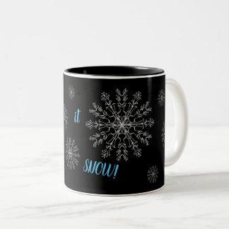 """""""Let it snow!"""" mug. Two-Tone Coffee Mug"""