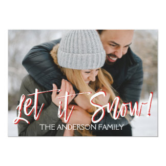Let it Snow or Christmas Photo Card