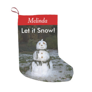 Let it Snow Personalized Name Snowman Stockings