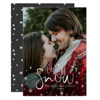 Let It Snow Photo Christmas Cards