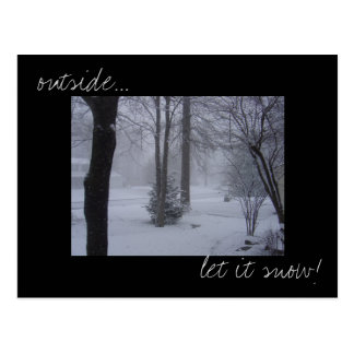 'Let it snow' photo postcard