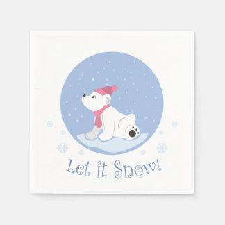 Let It Snow! (Polar Bear Cub) Paper Napkin