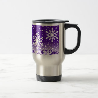 Let It Snow Purple - mug