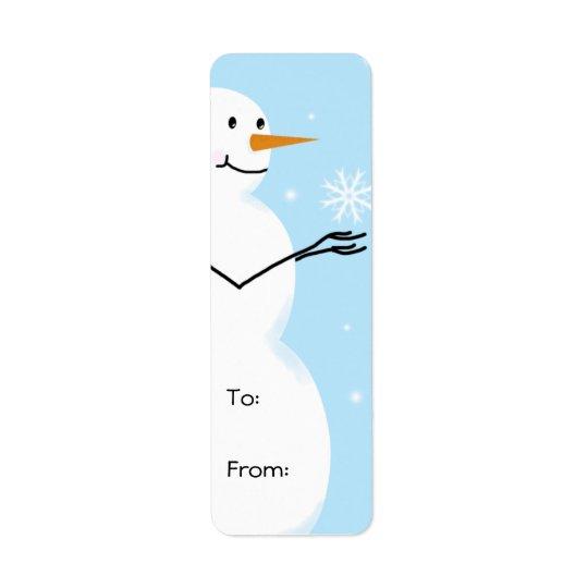 Let It Snow Return Address Label