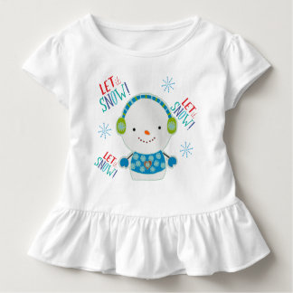 Let It Snow Ruffled Toddlers Top