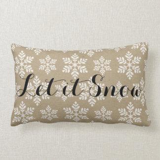 Let it Snow Snowflake Pillow