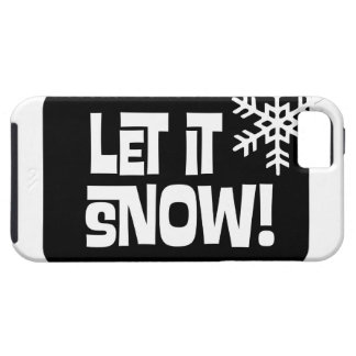 Let it Snow snowflake text iPhone 5 Cover