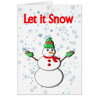 Let it Snow Snowman Card