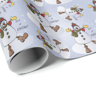 Let it Snow Snowman Christmas Wrapping Paper