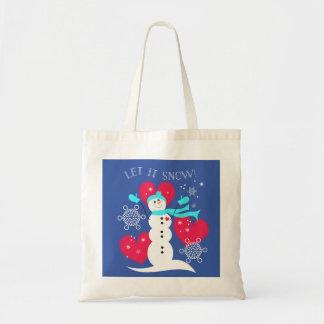 Let It Snow! Snowman Tote