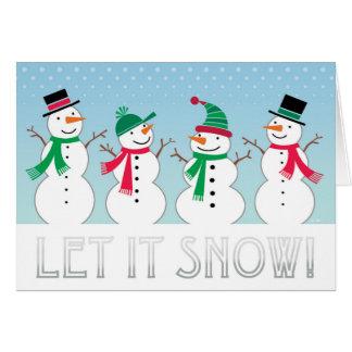 Let it Snow Snowmen Note Card