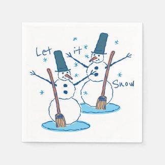 Let it Snow Snowmen Paper Napkin
