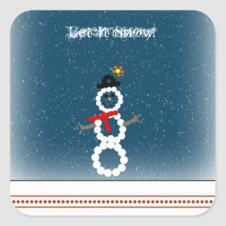 Let it snow stickers